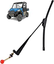 "Valchoose UTV Hand Wiper 15.7"" UV Protected Rubber Manual Windshield Wiper for Polaris Ranger RZR Kawasaki Honda Pioneer Golf Cart - Instruction Included"
