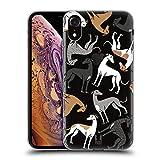 Head Case Designs Galgo Patrones de Raza de Perro 4 Carcasa de Gel de Silicona Compatible con Apple iPhone XR