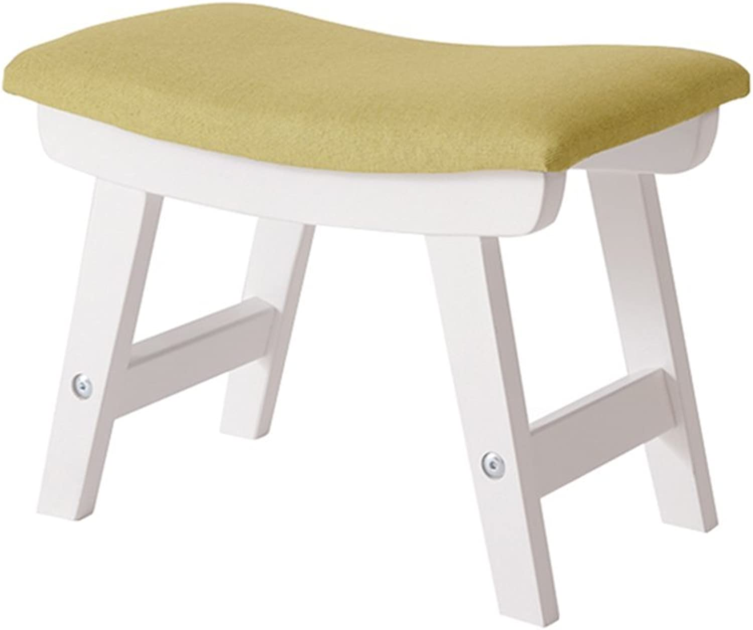 Change shoes Stool Foot Stool Upholstered Footrest Wooden Storage Dust-Proof Hallway Stand Chair Linen Fabric Cushion for Living Room Available White 38x24x29cm