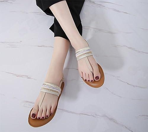 Creux sandales plates et pantoufles pantoufles pantoufles pantoufles sandales femmes tong nationales drag vent sandales d'été des femmes , apricot , US7.5   EU38   UK5.5   CN38 69a