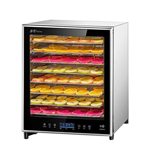 Fruitdroger, digitaal scherm, instelbaar, temperatuur instelbaar, 8 lagen, roestvrij stalen dienblad, droogvoering, droogvoering, 200 W
