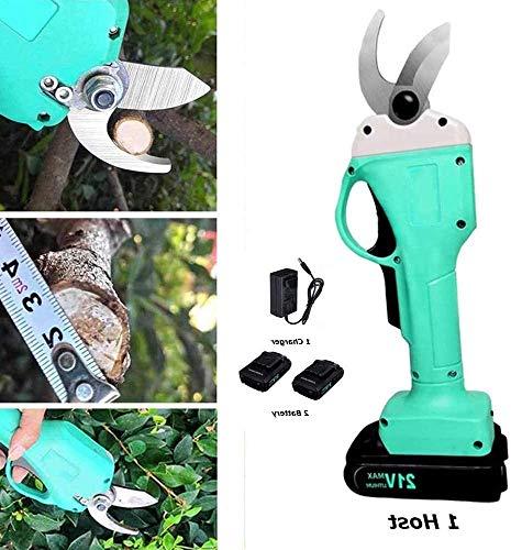 puissant Couteau à branche sans fil 30 mm avec cutter électrique Vogvigo, deux batteries de secours lithium-ion 21V…