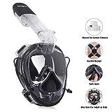 Unigear Tauchmaske, Schnorchelmaske Vollgesichtsmaske, Tauchen Schnorcheln Vollmaske (Schwarz)