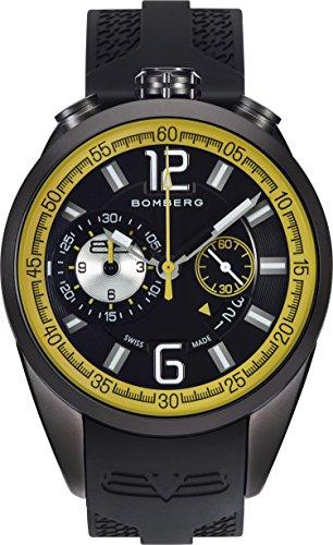 Bomberg Reloj Cronógrafo para Hombre de Cuarzo con Correa en Silicona NS44.0083