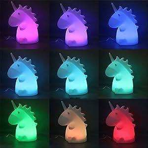 LONDADI Night Light for Kids Nursery Lamp, Lovely Unicorn Animal Light Christmas Night Home Decor Party Gift for Kids for Bedrooms, Children's Room, Baby, Kids, Infants Nursery