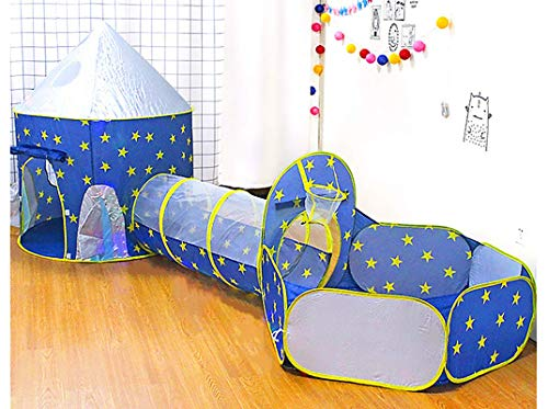 Benebomo Spielzeugzelt,Jurte, Ballpool, Kriechkanal, DREI-in-Eins-Kinderzelt , Spielzelt , Kinderzelt