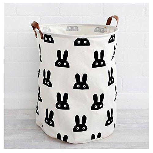 G4 TECH® Pliage en Coton Ramie pour Blanchisserie sac enfants Jouets Corbeille de Rangement (A)