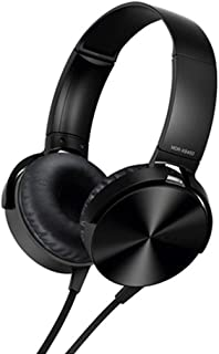 Perfk 3.5mm Over-Ear Headphones with Microphone, Hi-Fi Stereo Foldable Headset for Laptop Mobile Phone Tablets - Black