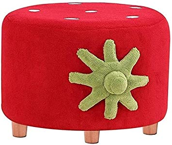 Amazon Com Htllt Practical Stool Cute Cartoon Strawberry For Kids Stools Shoe Benches Fashion Accessories Dressing Rack Red Home Improvement