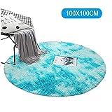 WANNA.ME Runder weicher hochfloriger Mikrofaser-Flächenteppich, rutschfeste Bodenmatten-Raum-Teppiche für Kinderzimmer Kinderspielzimmer Wohnzimmer Schlafzimmer Stuhlkissen