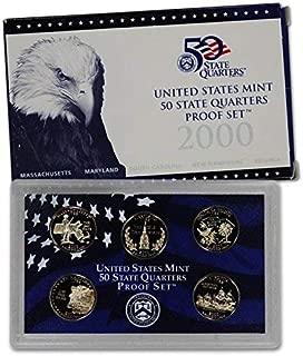 2000 S U.S. Mint Proof State Quarter Set - 5 Coins - OGP Original Government Packaging Superb Gem Uncirculated