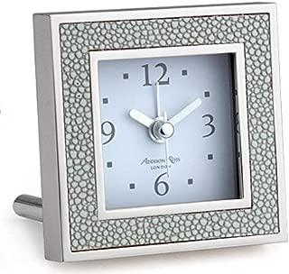 Addison Ross Grey Shagreen Alarm Clock