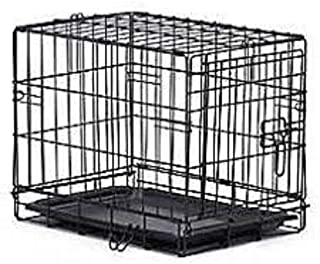 HANU Black 36 inch Cage/Crate/Kennel with Removable Tray for Dogs/Cats 039