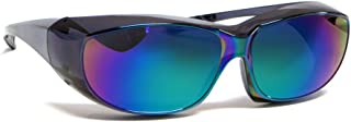 Calabria 6000 Large Fit-Over Safety Glasses UV Protection in Green Mirror
