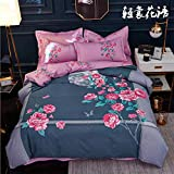juego de funda nordica cama 449cm,Osaka flor de cuatro piezas de fábrica al por mayor de textiles para el hogar ropa de cama de cuatro piezas de colcha de lino cubierta de 4 piezas de regalo conj