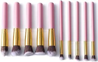 Makeup Brushes 10 PCS Synthetic Bamboo Blush Foundation Eyeliner Eyeliner Bronzer Pinceles de Maquillaje Juegos LLhyq (Color : 02Pink, Size : Gratis)