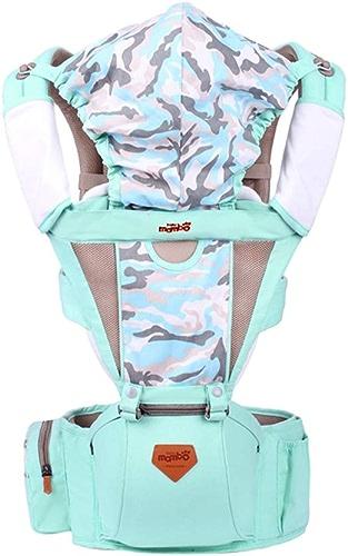 LQSMYYY Porte-bébé Porte-bébé Convertible Ergonomique élingue de siège sur Hanche 4 en 1 de Dorsale et Ventrale Réglable pour Le All Seasons Porte-Bébé