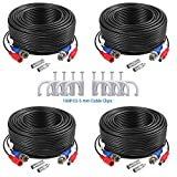 ANNKE 4 Pack 30M/100 Feet BNC Video Power Cable...