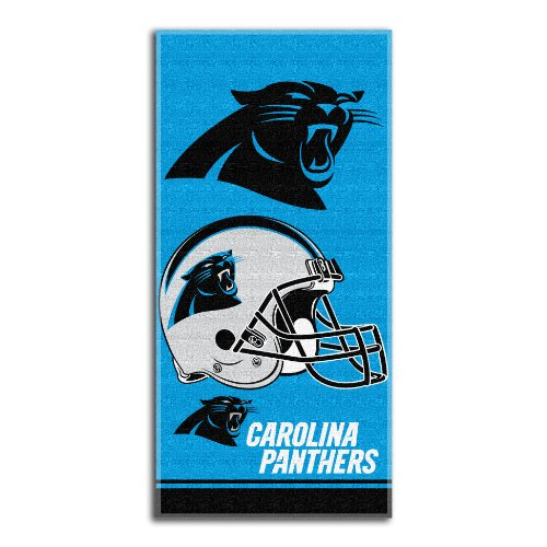 NFL Carolina Panthers Double Covered Beach Towel, 28 x 58-Inch