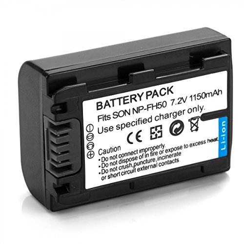 Rusty Bob - Sony NP-FH50 - DSLR-A290-A330-A390-DSC-HX1-HX100V-HX200V-DCR-DV-D108-DVD308-DVD808-DVD810-DVD905 HDR CX100 UX7E - solo batteria