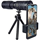 4K Pocket Monocular Phone Telescope,4k 10-300 x 40mm super telephoto zoom monocular telescope,monocular telescope for mobile phone with night vision