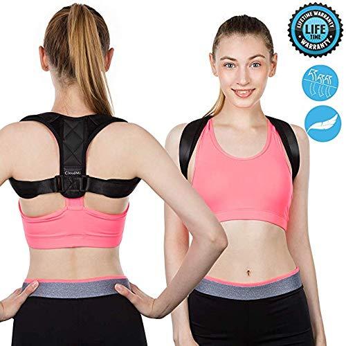 """Posture Corrector for Women Men Comfortable Posture Brace for Belt Back Shoulder Adjustable Posture Strap Back Support for Back Shoulder Pain Relief?28""""-36""""?"""