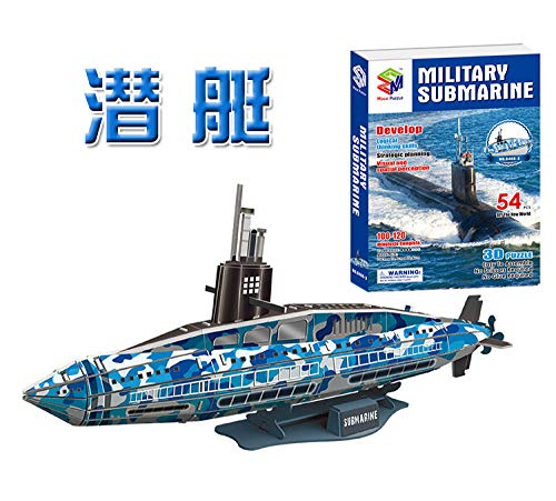 Educativo militar submarino U-barco submarino 3D rompecabezas de papel desarrollar montar modelo niños juguete de regalo para niños