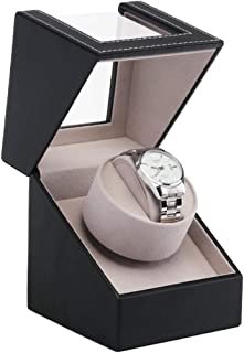WATCH WINDER High Class Motor Watch Shaker Watch Winder Case Holder Display Automatic Mechanical Black Brown Winding Jewel...