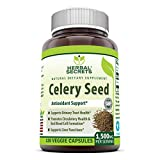 Herbal Secrets Celery Seed Extract 1500 mg Per Serving 120 Veggie Capsules - Non GMO, Gluten-Free -Natural - Supports Liver and Urinary Tract Health - Promotes Healthier Circulation