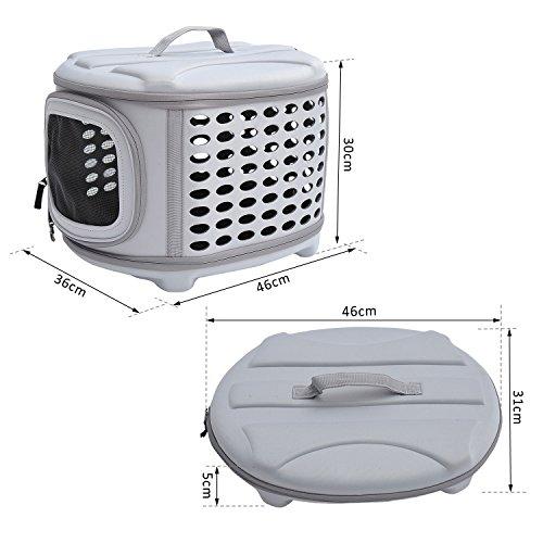 PawHut D1-0166 Transporttasche für Tiere, lichtgrau - 6