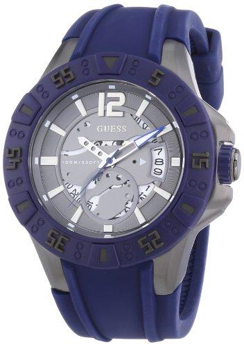 Guess Herren-Armbanduhr XL Magnum Analog Quarz Silikon W0034G6
