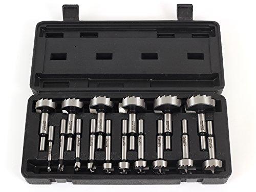 Yonico 41160S 16 Piece Steel Forstner Drill Bit Set 3/8-Inch