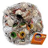 Sugar Pop (1) Bag Gummy Eyeballs - 22 Individually Wrapped Pieces Halloween Candy- Assorted Colors: Green, Yellow, Red - Net Wt. 5.92 oz