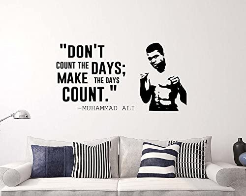 Make The Days Count Wall Quotes Muhammad Ali Vinyl Decal Sticker Motivational Sport Home Art product image