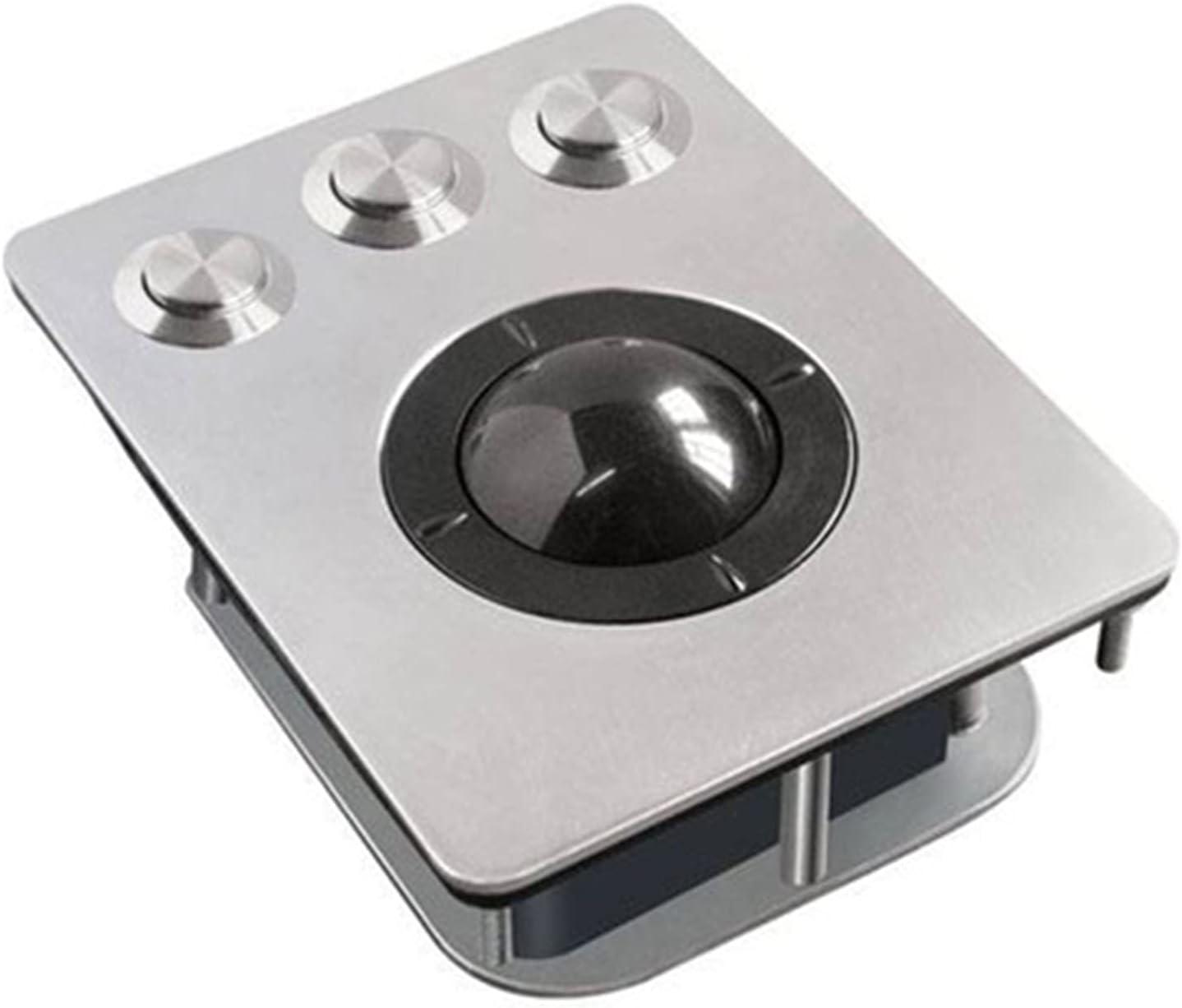 Ratones Ratón Gaming Pc para Portatil Mouse con Cable USB Trackballs Metal Acero Inoxidable Mecánico Industria A Prueba de Explosiones 5 Botones 1000 PPP