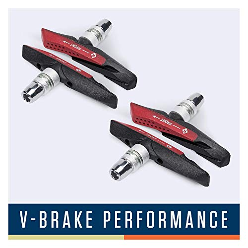 Alphatrail V-Brake Bremsbeläge I 2 Paar 72mm I Optimiertes Bremsverhalten bei Nässe I Langlebiger Bremsbelag & 100{c8adc4861dc4b59f43a15598c3dd6026f4a36765b3cd5ff387ba36decb2a040a} Passgenau für V-Brakes von Shimano, Tektro, Avid, SRAM, XLC UVM