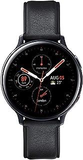 (Renewed) Samsung Galaxy Watch Active 2 (Bluetooth + LTE, 44 mm) - Black, Steel Dial, Leather Straps