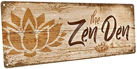 Homebody Accents The Zen Den Lotus 6 x16 Metal Sign Wall D cor for Inspirational product image