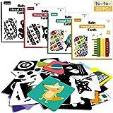 teytoy Lernkarten Kleinkinder Baby Flash Karten für Neugeborene Spiel Karten Spielzeug 0-12 Monate Kleinkind Lernspielzeug Frühförderungskarte 4 Sätze von Inszenierten Bilder Karten