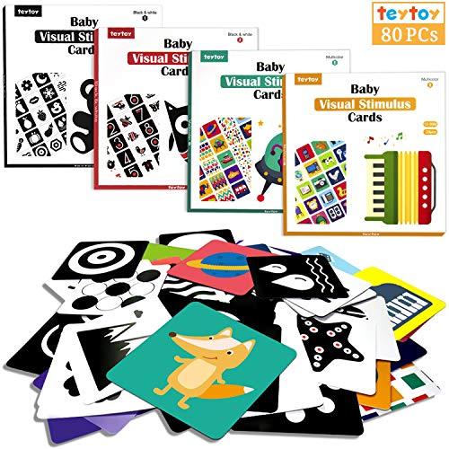 teytoy Lernkarten Kleinkinder Baby Flash Karten für Neugeborene Spiel Karten...