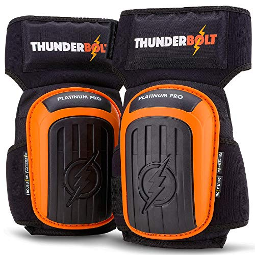 Knee Pads for Work by Thunderbolt for Construction, Flooring, Gardening, Cleaning, Tile...