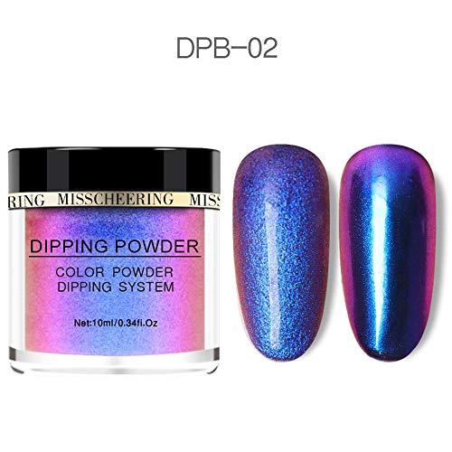 roroz 10 Farben Nagel Glitter Pulver, Laser Pulver, Glitzerpulver Nail Art Dekoration, Nagel-Produkte, Für Nail Shop/Beauty Design/Mode DIY,02