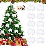 Angelo Piuma, Ali di Angelo , Decorazioni Natalizie Bianche, Ali di Piume d'Angelo Natale, Albero di Natale Ali d'Angelo, Natale Ali d'Angelo, Ali d'Angelo, Feather Appeso Ali d'Angelo (Bianco 10)