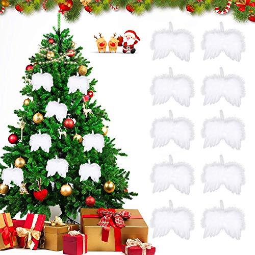 Weiße Engel Feder Flügel Ornament,10 Engelsflügel,Engelsflügel Federn Flügel,hängende Engelsflügel,Schutzengel Weiße,Federn Flügel Engel,Engelsflügel Deko,Weihnachtsfeier Dekoration DIY Handwerk