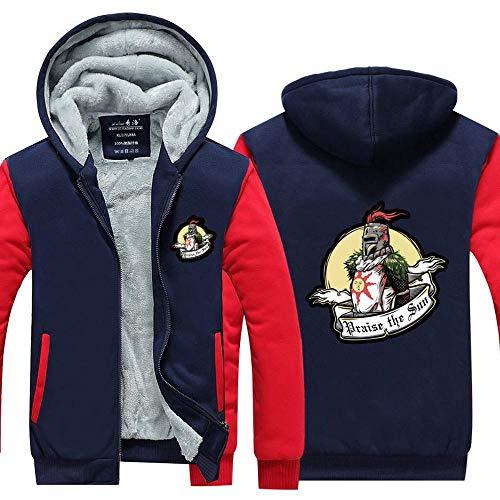 AEH Herren-jacken-Sweatshirt - Warm Sweatshirt Baseball-Trikot Langarm-Zip Pullover-Teen-Geschenk Baseball Hockey Hoodie-Jacke,F-M