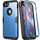 YOUMAKER Case for iPhone 8 & iPhone 7, Full Body Rugged with Built-in Screen Protector Heavy Duty Protection Slim Fit Shockproof Cover for Apple iPhone 8 (2017) 4.7 Inch