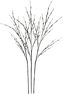 Hi-Line Gift LtdFloral Lights Lighted Pussy Willow (set of 3 Branches) with 144 bulbs, 48 inches