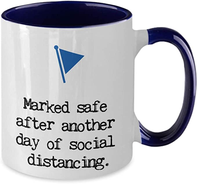 Details about  /Shelter In Place Mug Black Coffee Cup Gift for Social Distancing Self Isolation