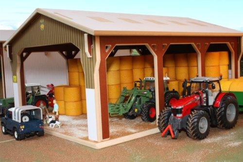 BRUSHWOOD TOY FARM BT6000 BIG BALE SHED by Brushwood