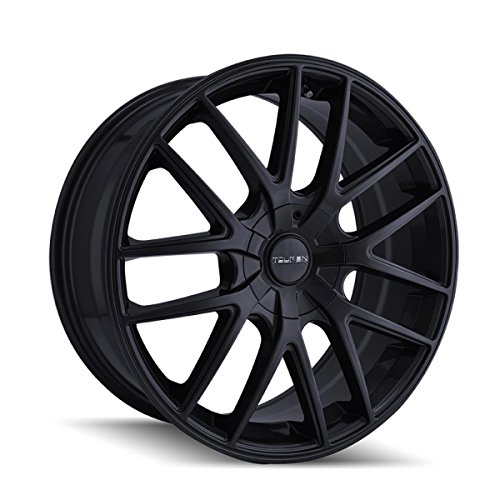 TOUREN TR60 Full Matte Black Wheel (17 x 7.5 inches /5 x 72 mm, 42 mm Offset)